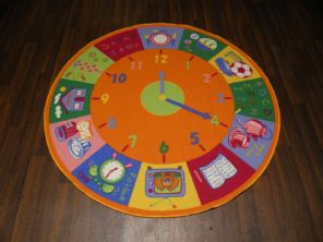 133X133CM CIRCLE TIME RUG/MATS HOME/SCHOOL EDUCATIONAL NON SILP BEST SELLERS